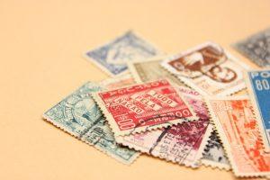 沢山の昔の切手
